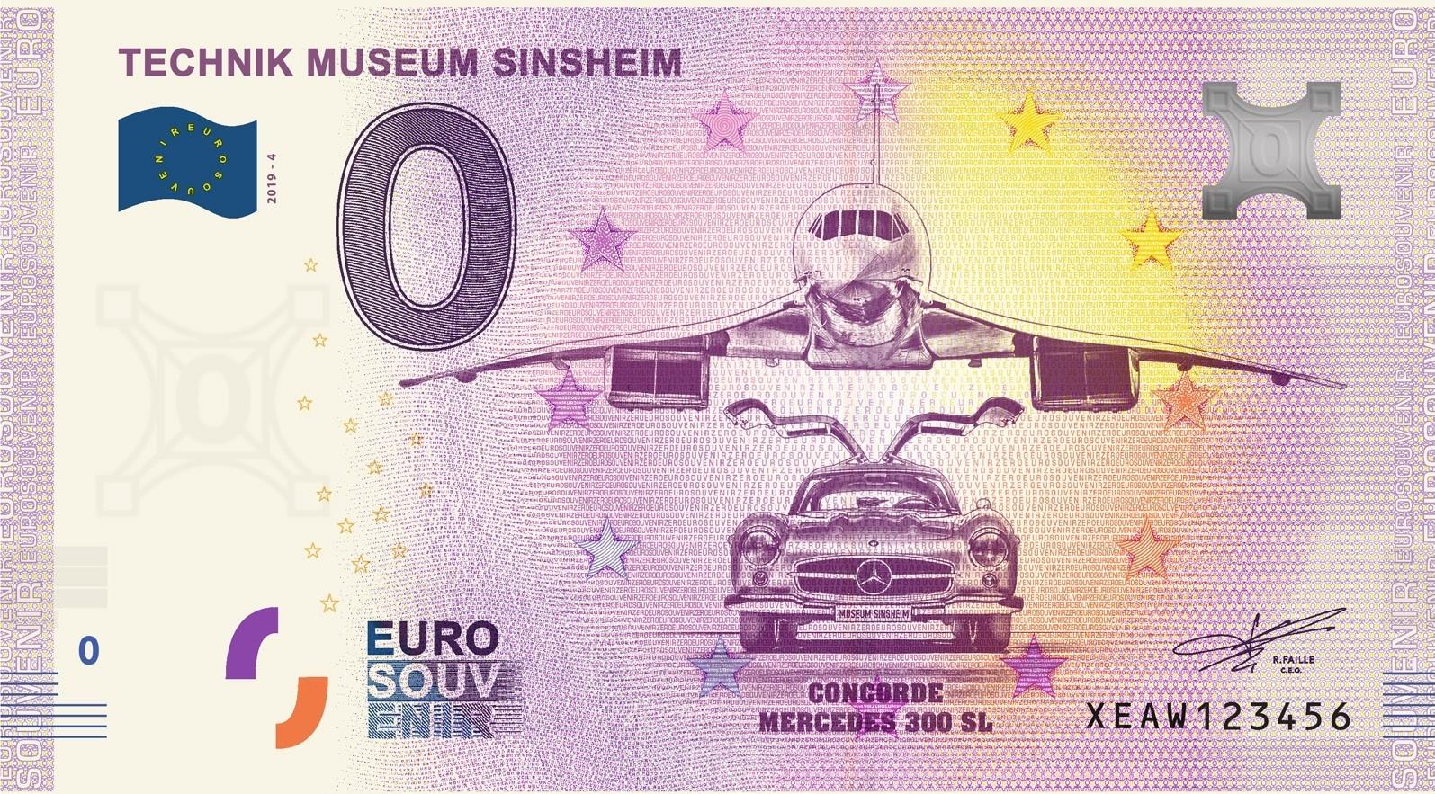 Souvenir 0 Euro Notes