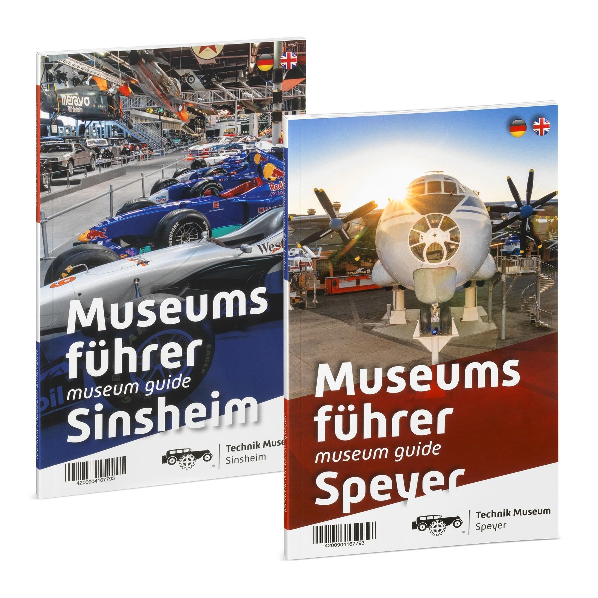 Wendecover: Der Führer enthält sowohl die Information für das Technik Museum Sinsheim, als auch für das Technik Museum Speyer
