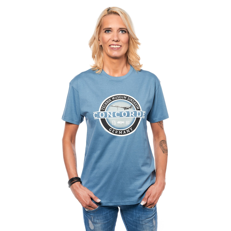 T-Shirt Blau - Concorde