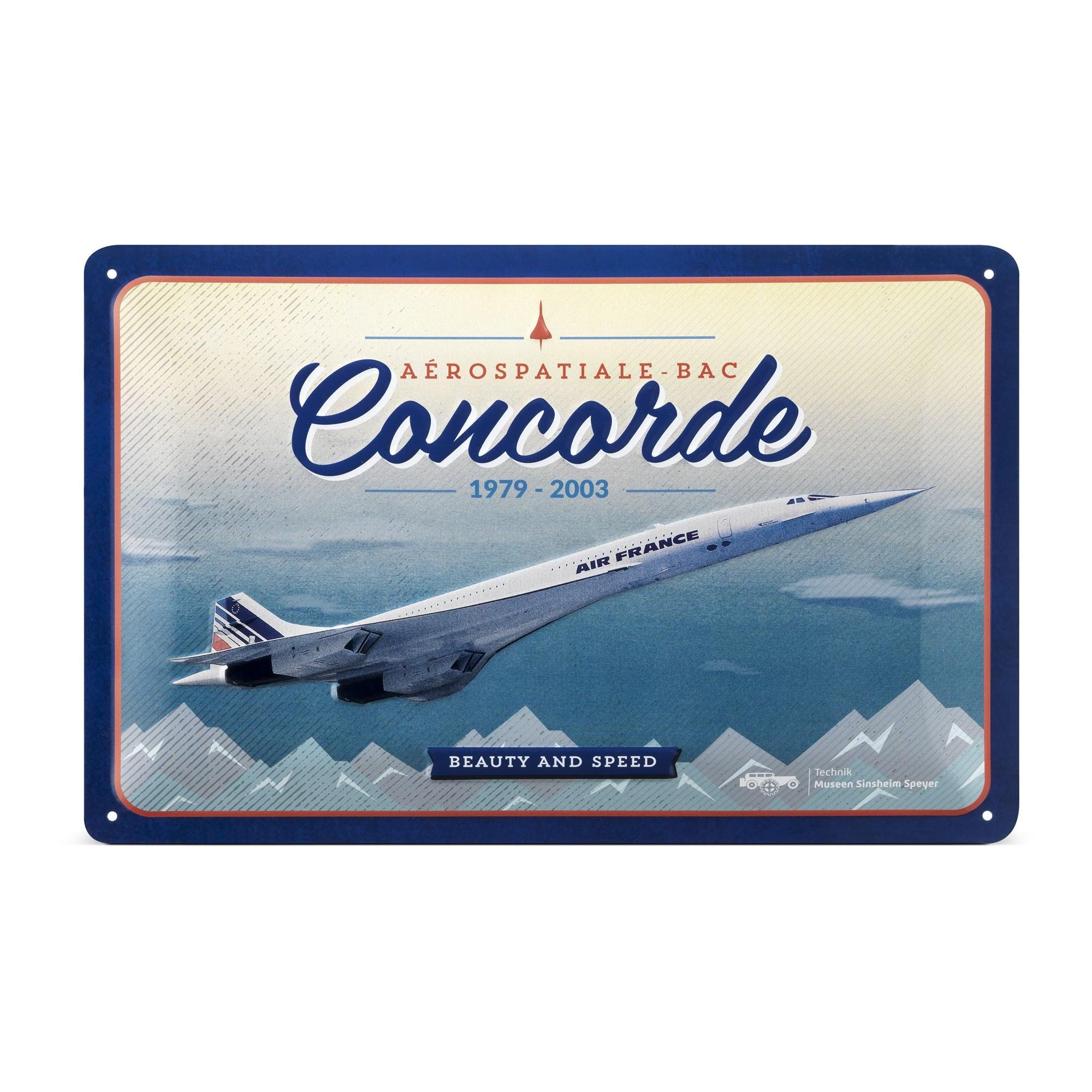 Blechschild - Concorde