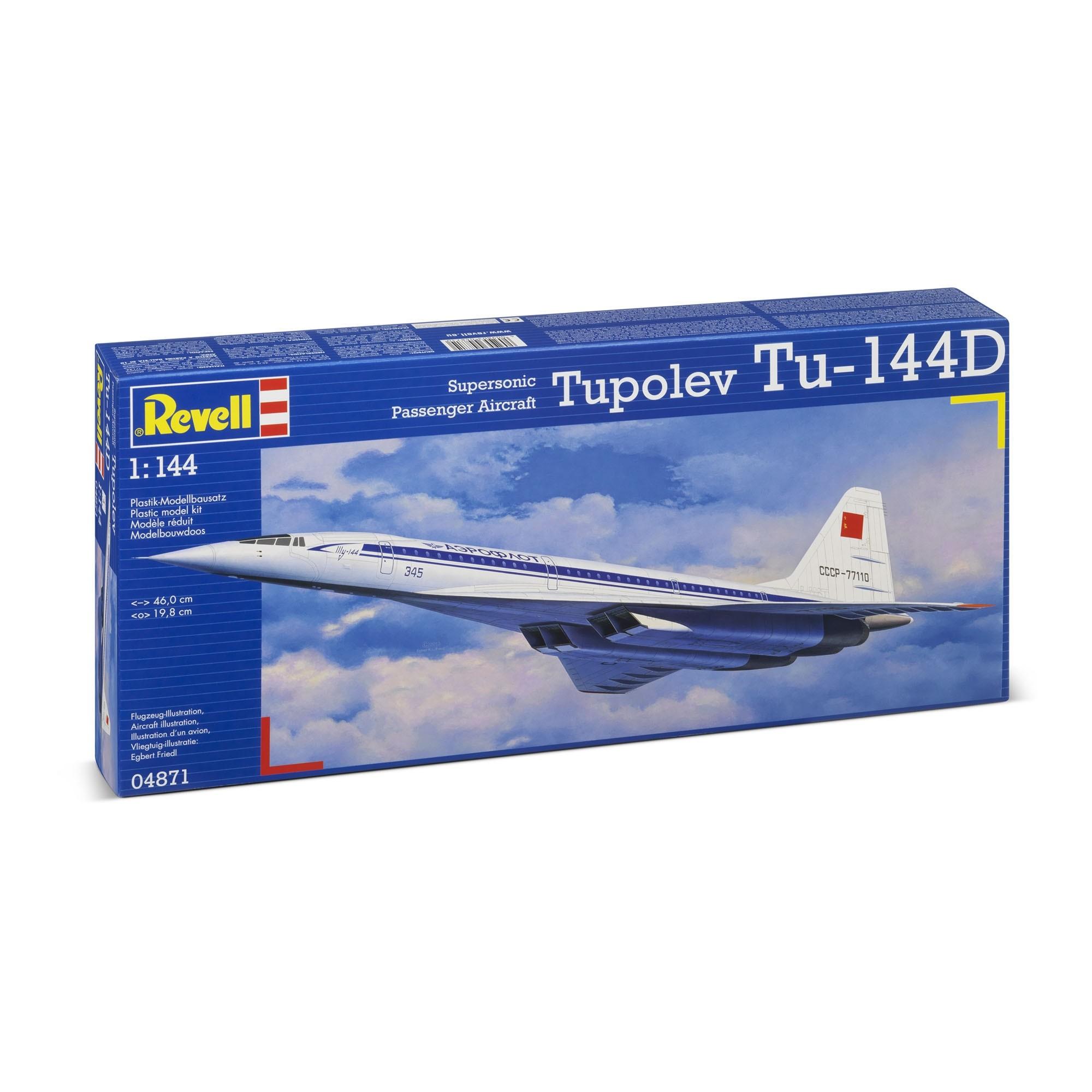 Revell 04871 Modellbausatz - Tupolev TU-144D 1:144