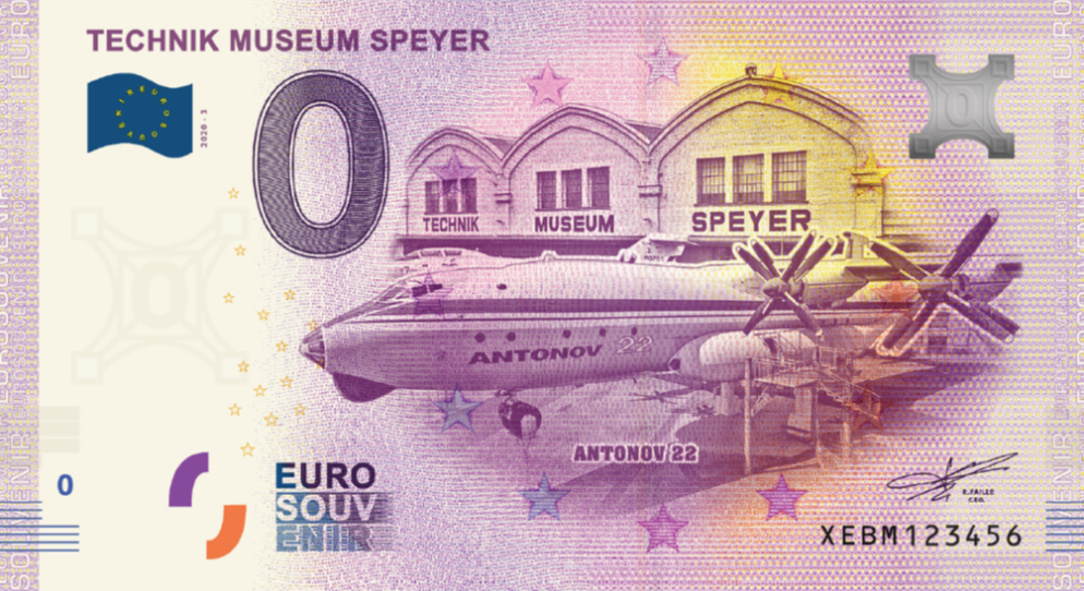 0-Euro Souvenirschein Technik Museum Speyer - Antonov AN22