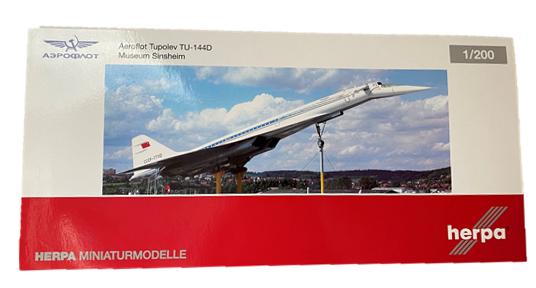 Herpa Fertigmodell Tupolev TU-144D Aeroflot 1:200