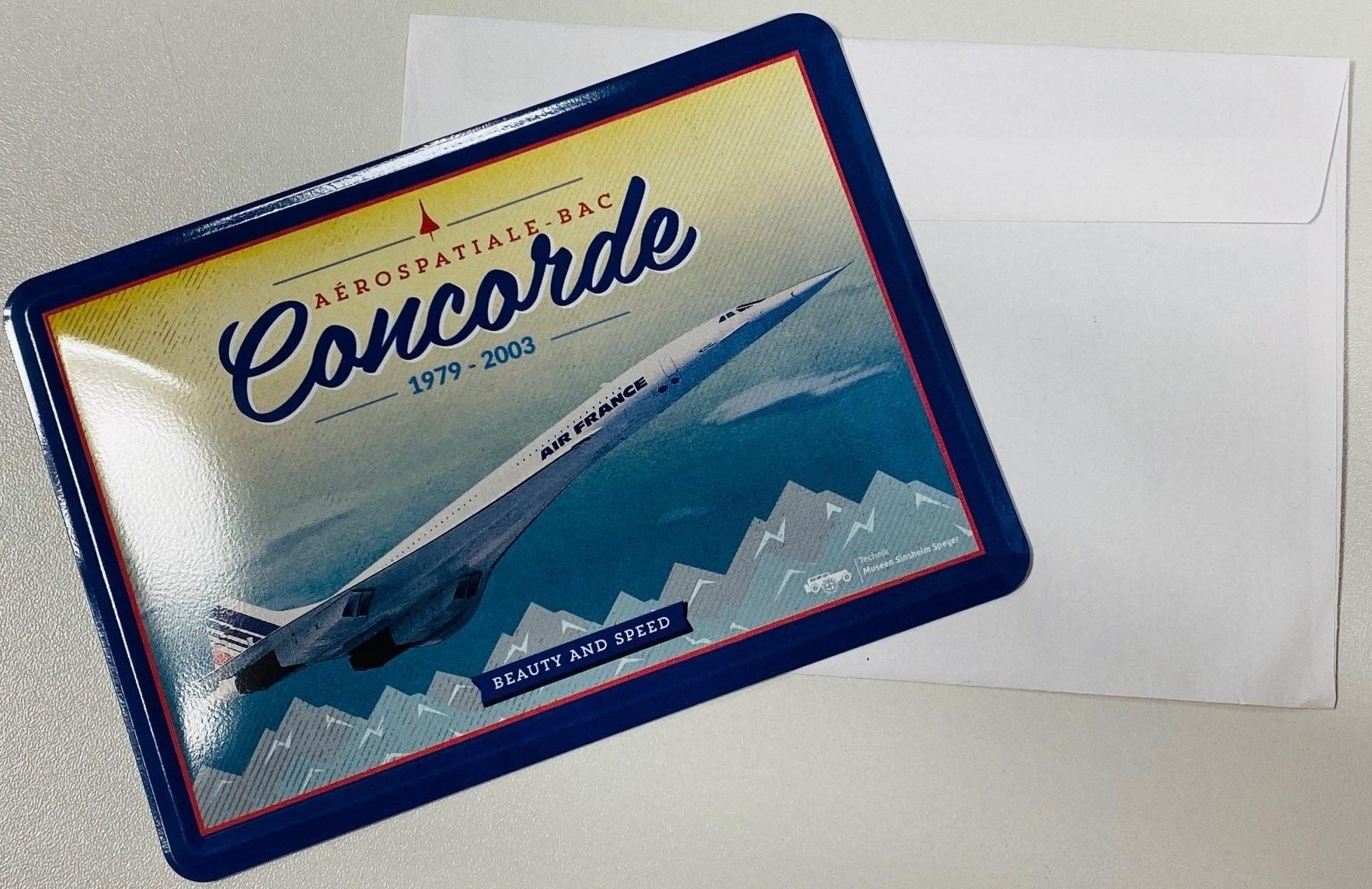 Blechpostkarte - Concorde