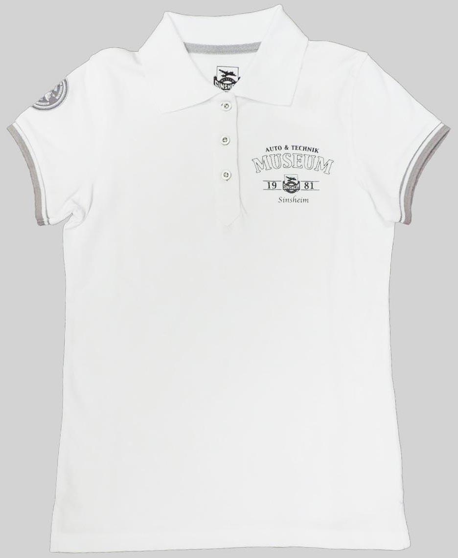 Museums Poloshirt Damen weiß