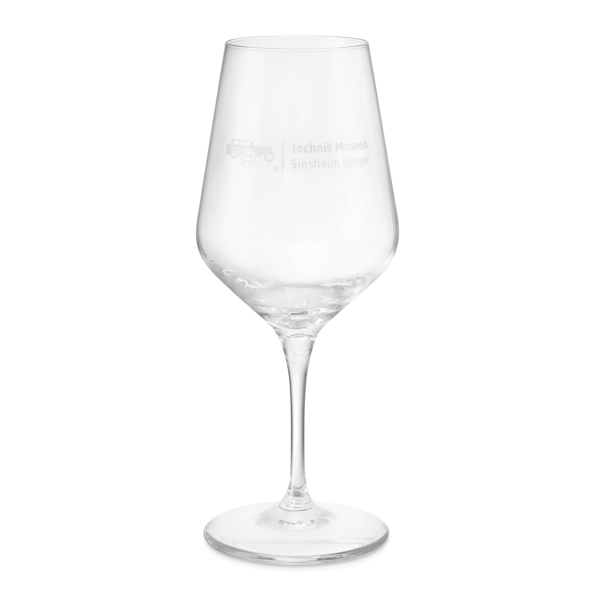 Weinglas zum Jubiläum - 40 Jahre Museen Sinsheim Speyer