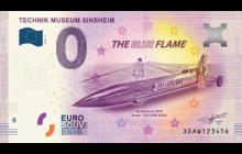 0-Euro Souvenirschein Technik Museum Sinsheim - Blue Flame