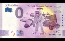 0-Euro Souvenirschein Technik Museum Speyer - 30 Jahre Technik Museum Speyer - Anniversary Version