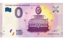 0-Euro Souvenirschein Technik Museum Sinsheim - Mythos Alfa Romeo