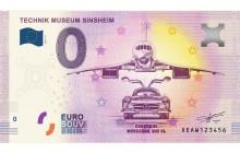 0-Euro Souvenirschein Technik Museum Sinsheim - CONCORDE und MERCEDES 300 SL