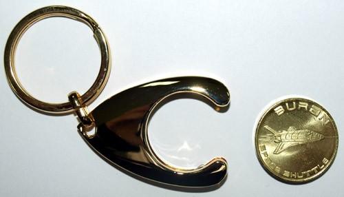 Schlüsselanhänger BURAN mit Einkaufswagen-Chip