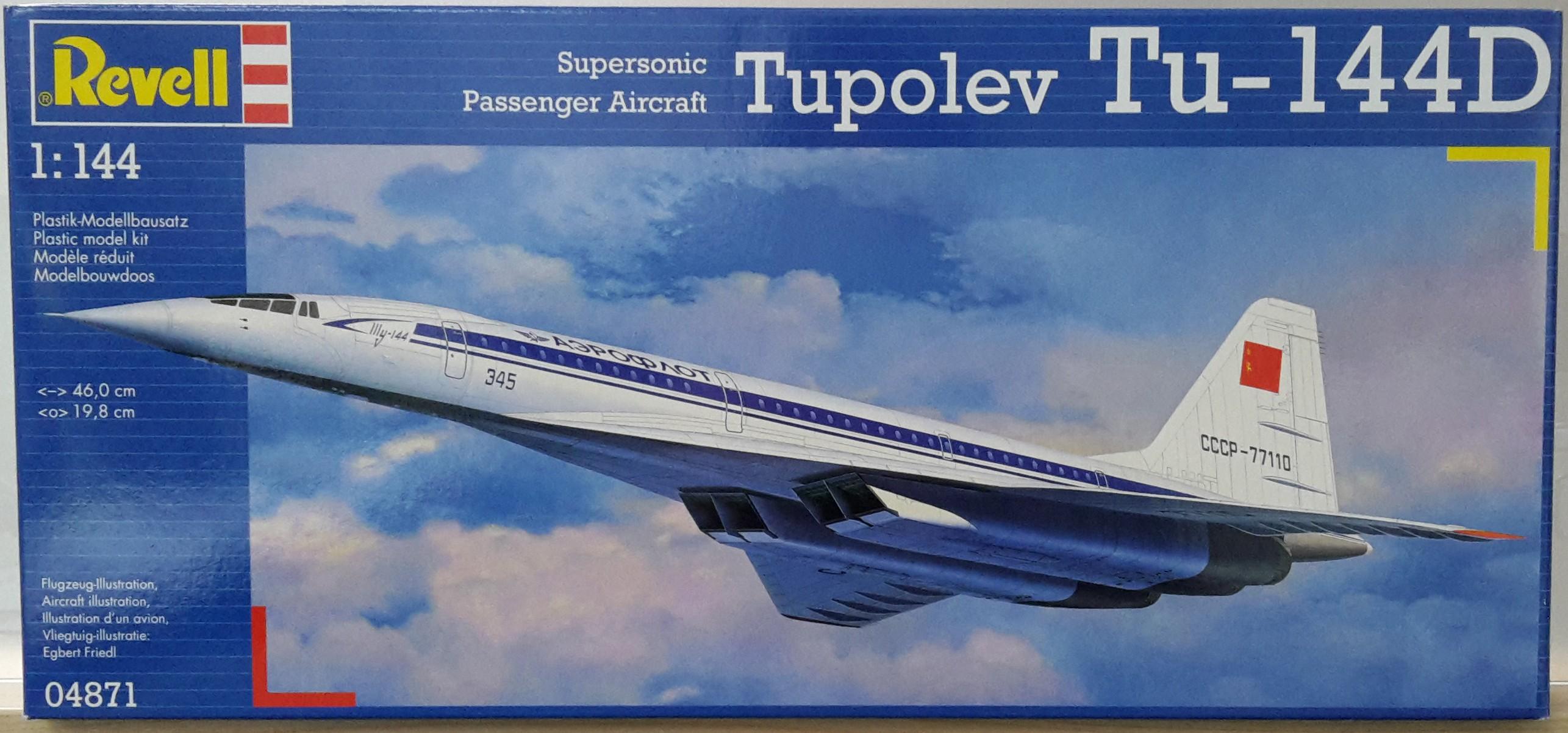 Revell Model Kit - Tupolev TU-144D 1:144