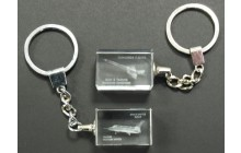 Crystal Block Key Chain - Concorde & Buran