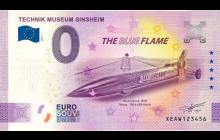 Souvenir 0 Euro Note - Blue Flame - ANNIVERSARY EDITION