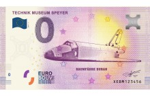 Souvenir 0 Euro Note - Spaceshuttle Buran