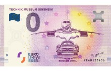 Souvenir 0 Euro Note - Concorde and Mercedes 300 SL